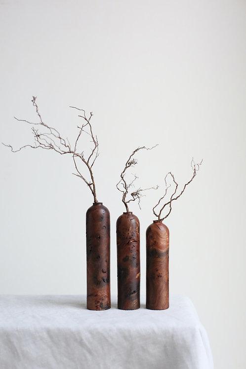 Elm Burr Dried Flower Vases Set #4