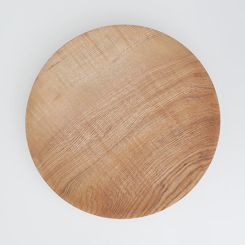 Rippled Olive Ash Moon Plate
