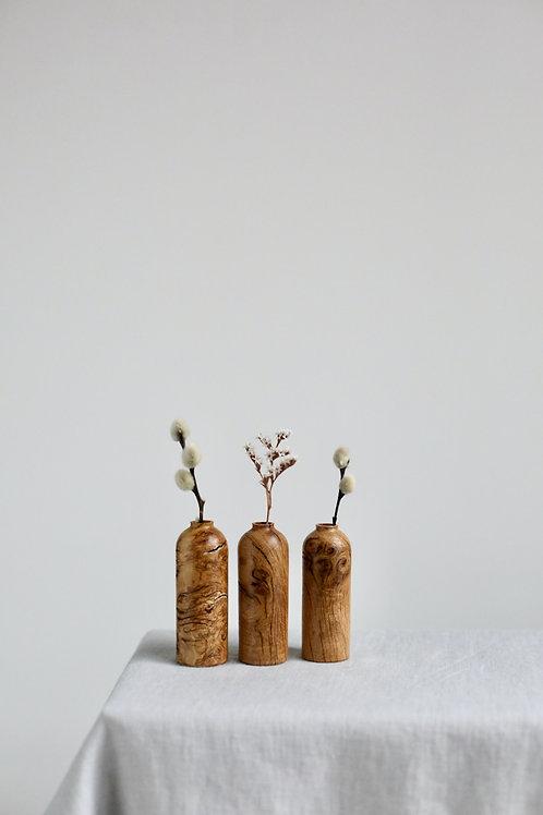 Oak Burr Mini Dried Flower Vases Set #6