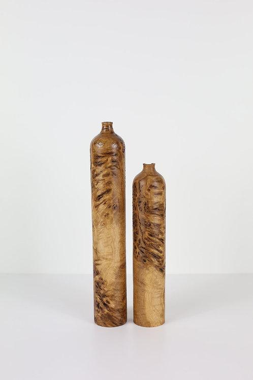 Oak Burr Twin Dried Flower Vases #1