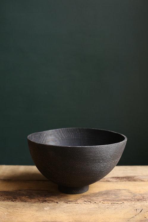 Ebonised Oak Atlas Bowl