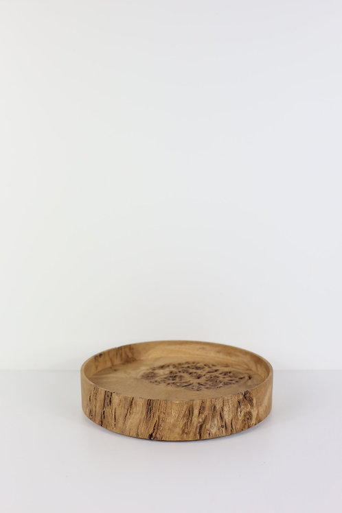 Oak Burr Halo Tray