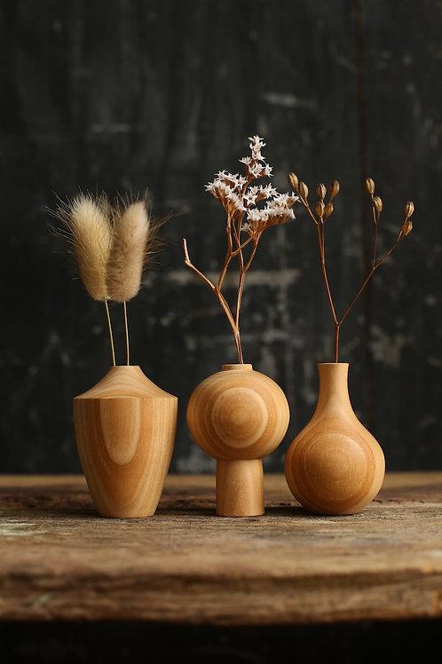 Cherry Mini Dried Flower Vase Set #3