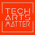 tech arts matter logo white letters-oran
