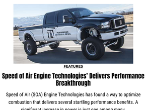 Speed of Air Engine Technologies' Delivers Performance Breakthrough
