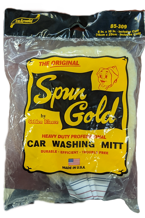 Spun Gold Car Washing Mitt