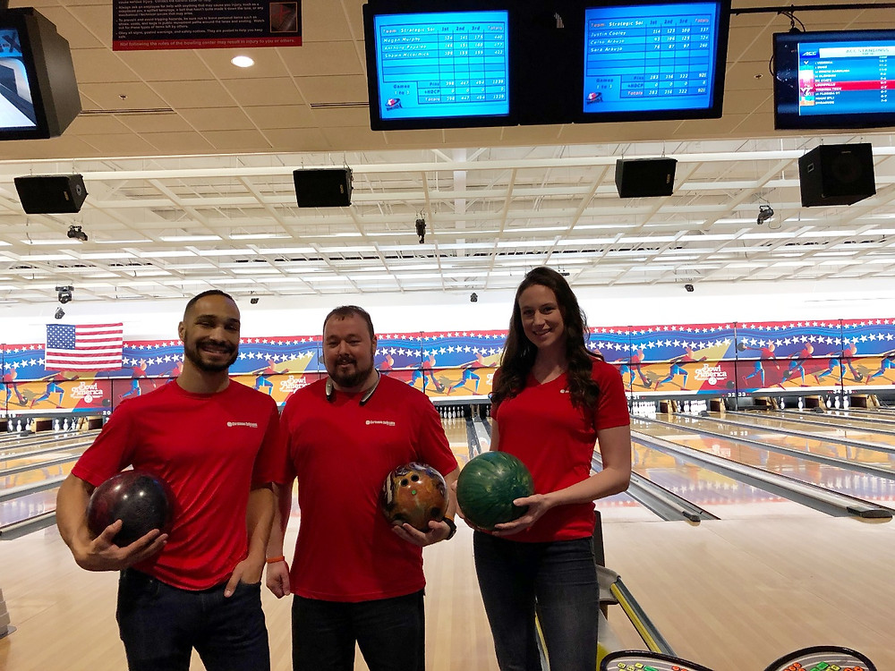 The winning SSVA bowling team