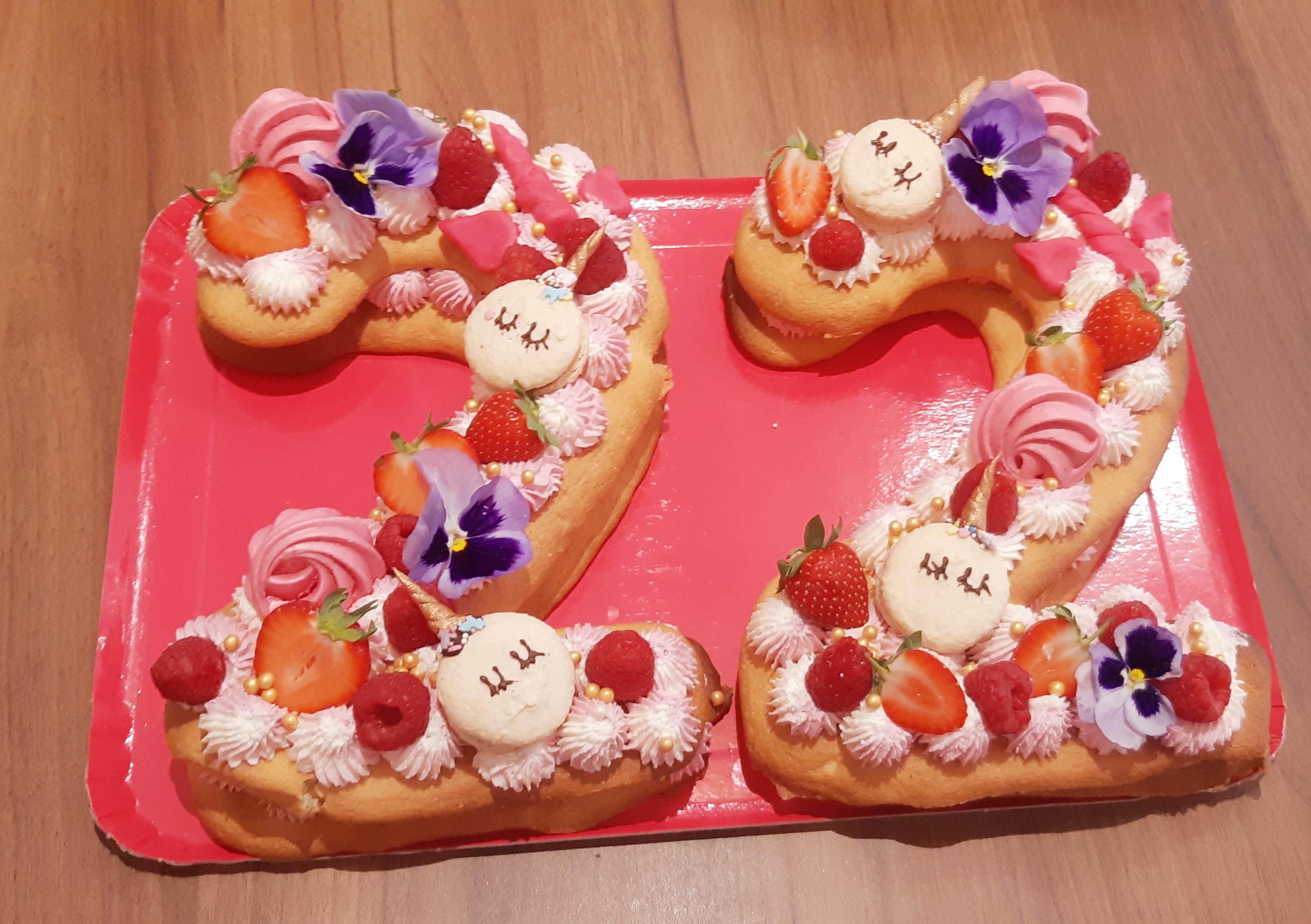 number cake licorne
