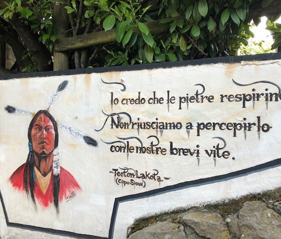 dipinto su muro discoteca Indio Club 4.j
