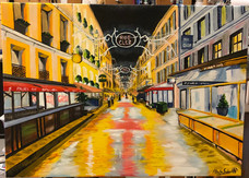 Rue Cler Paris_canvas painting.JPG