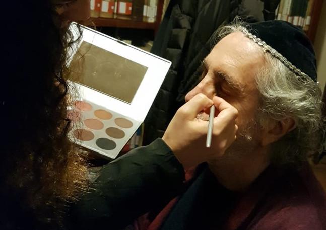 Make-up on set Shimpu short movie di Fra