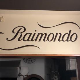 scritta personalizzata Pizzeria Raimondo