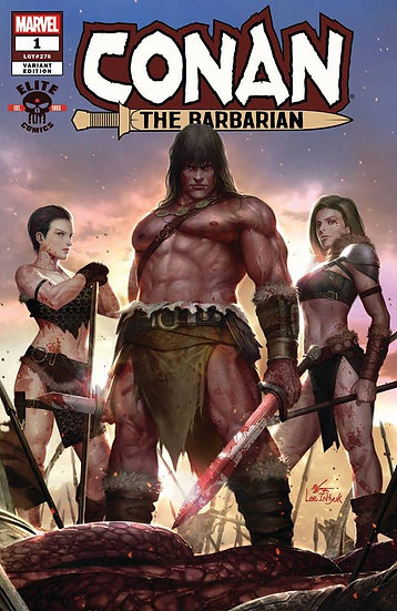 CONAN THE BARBARIAN #1 exclusive In-Hyuk Lee variant (signed by Jason Aaron)