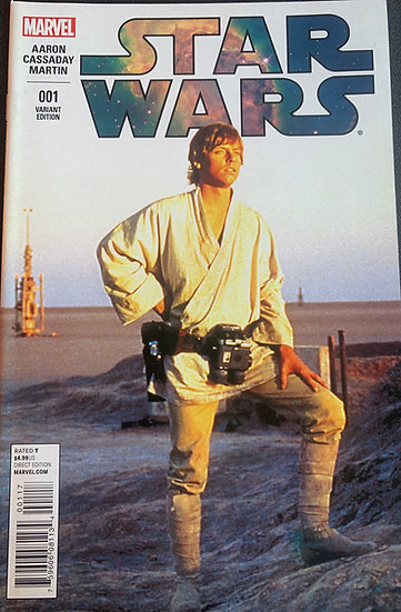 STAR WARS #1 First Printing, Mark Hamill variant cover (signed by Jason Aaron)