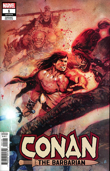 CONAN THE BARBARIAN #1 Sienkiewicz variant 1:200 (signed by Jason Aaron)