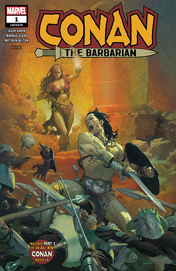 CONAN THE BARBARIAN #1 First Printing, Ribic cover (signed by Jason Aaron)