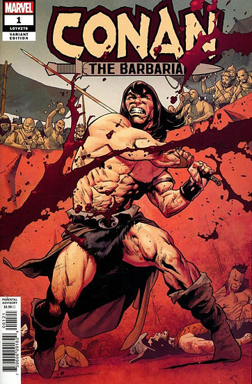 CONAN THE BARBARIAN #1 Mahmud Asrar variant (signed by Jason Aaron)