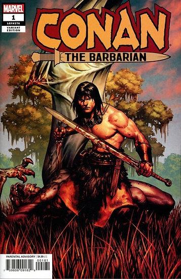 CONAN THE BARBARIAN #1 Saiz variant (signed by Jason Aaron)