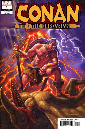 CONAN THE BARBARIAN #1 rare Hildebrandt variant 1:500 (signed by Jason Aaron)