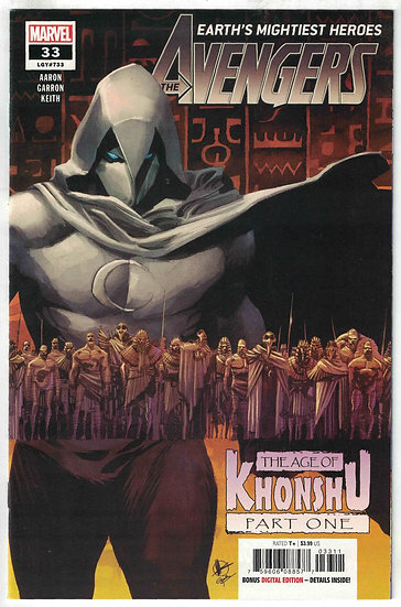 AVENGERS #33, First Print, Moon Knight vs. the Avengers, (signed by Jason Aaron)