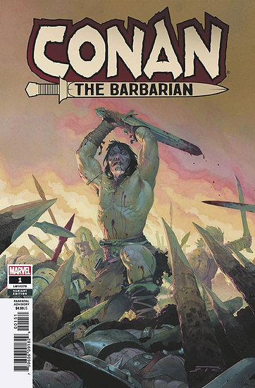 CONAN THE BARBARIAN #1 Esad Ribic variant (signed by Jason Aaron)