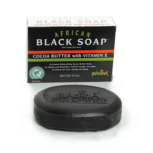 African Cocoa Butter Black Soap - 3 1/2 oz