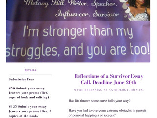 I'm So Excited About the Reflections of a Survivor Book Project.