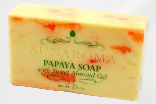 Papaya Soap w/Sweet Almond Oil - 5 oz.