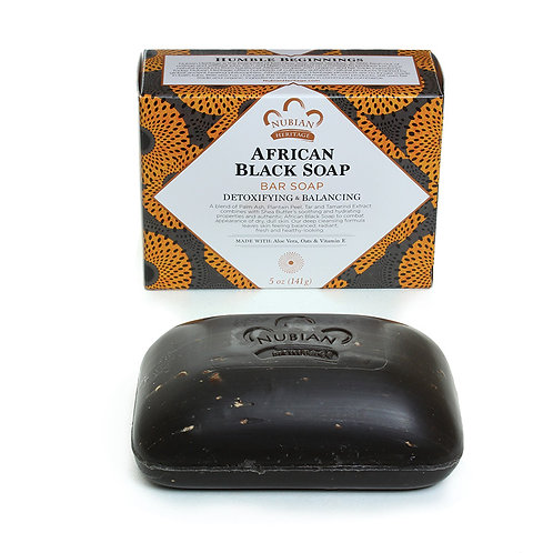 African Black Soap with Oats, Aloe & Vitamin E - 5 oz