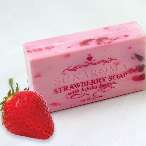 Strawberry Soap w/Jojoba Butter - 5 oz.