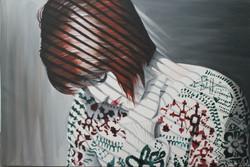 """Shadows on a Face 24"""" x 36"""" Acrylic"""