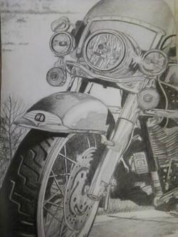"Cycle 18"" x 24"" Pencil"