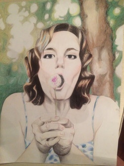 """Complimentary 18"""" x 24"""" Color Pencil"""