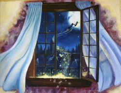 """Peter Pan 18"""" x 24"""" Acrylic"""