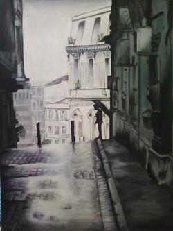 "London Umbrella 18"" x 24"" Acrylic"
