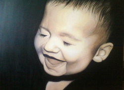"""Commission baby 36"""" x 48"""" Acrylic"""
