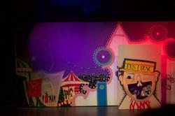Pinocchio - Painted circus scene