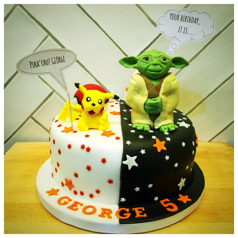 Yoda and Pikachu Cake