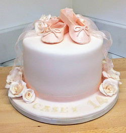 Ballet Shoes and Rose Cake