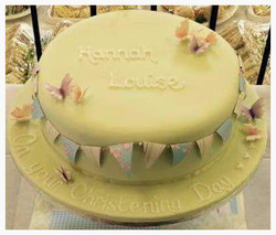 Butterfly Bunting Cake