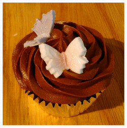 Chocolate butterfly cupcake