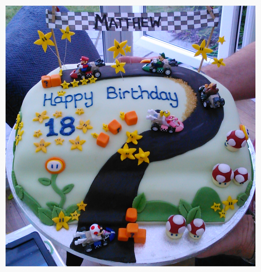 Mario Kart Race Cake