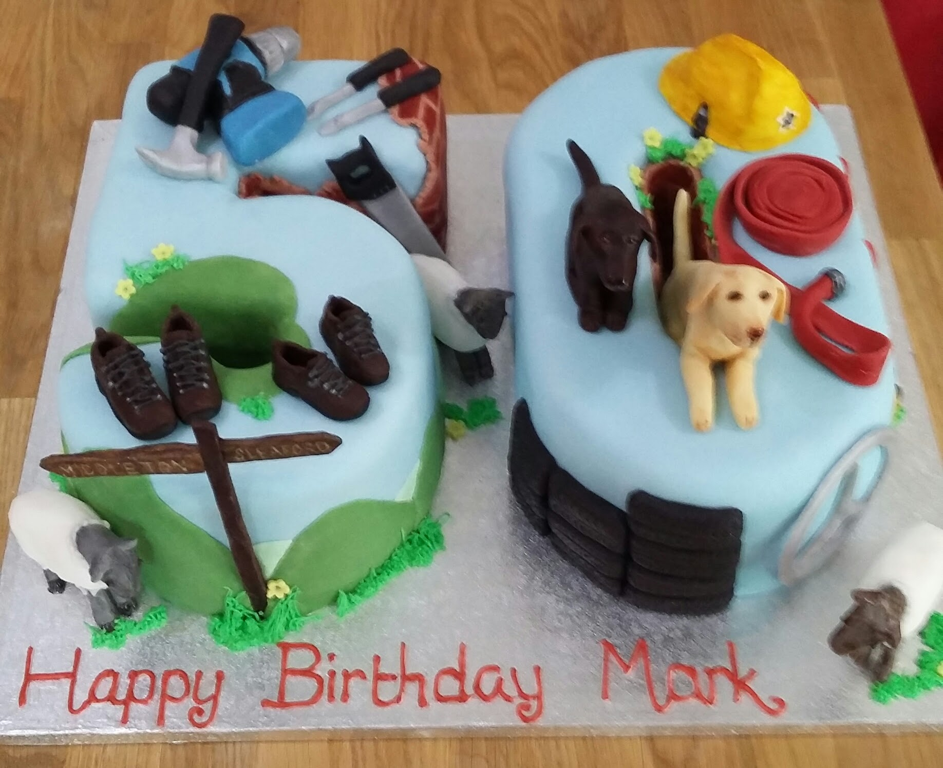 walking and dog 50 cake
