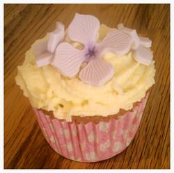 Lilac Hydrangea Cupcake