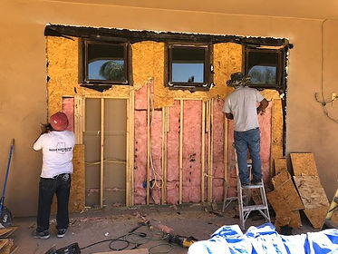 Before Image. client adding second sliding door to the outside. Radar Restoration your local Arizona Restoration Specialists and General Contractor.