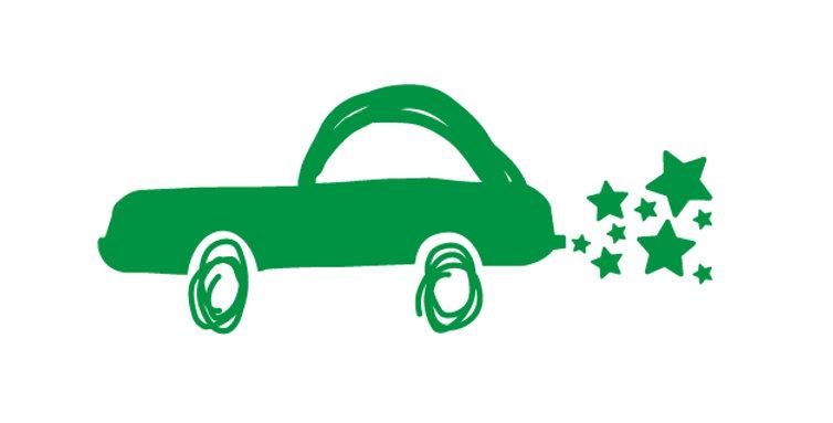 Auto mit Sternen