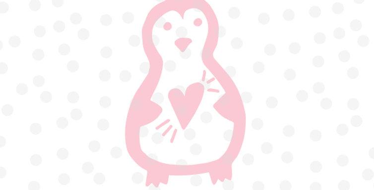 Pinguin mit Herz