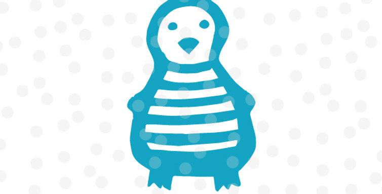 Pinguin mit Streifen