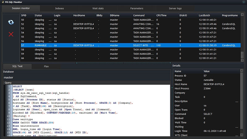 [CerebroSQL] MSSQL Monitor - session list.jpg