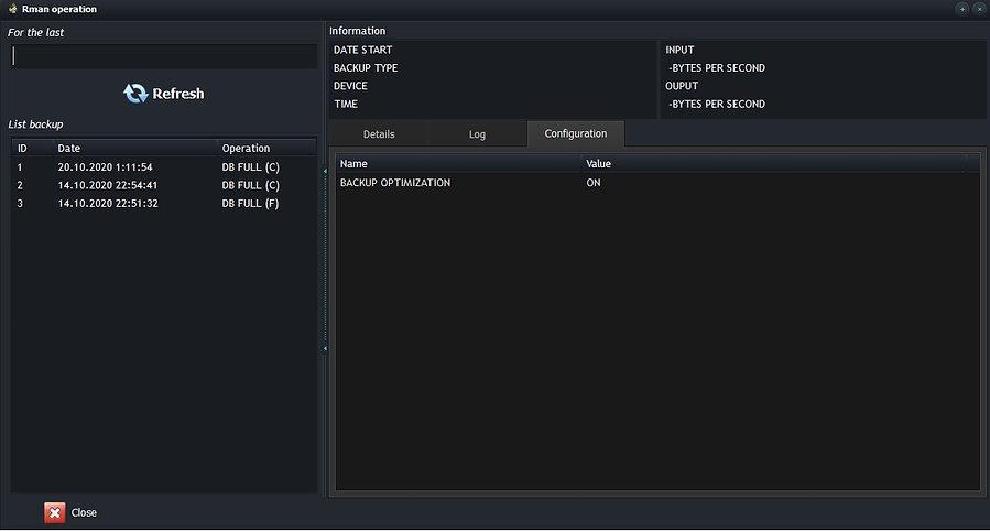 Oracle RMAN configuration